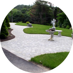 patio and walkways made from pavers